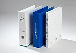 PVC-Hebelordner und Ringbücher